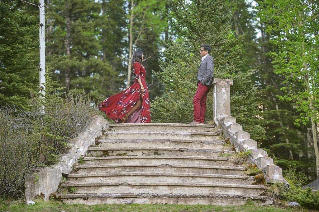 Banff Indian Engagement | Calgary Engagement Photographer | SLIVER Photography