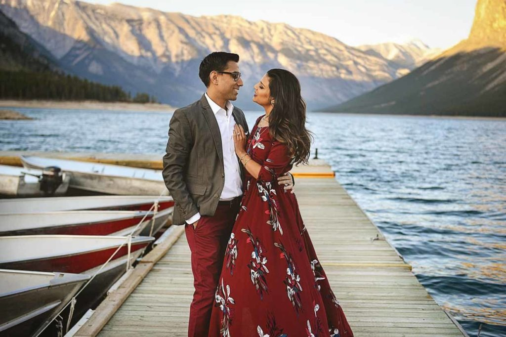 Lake Minnewanka Engagement | Calgary Engagement Photographer | SLIVER Photography