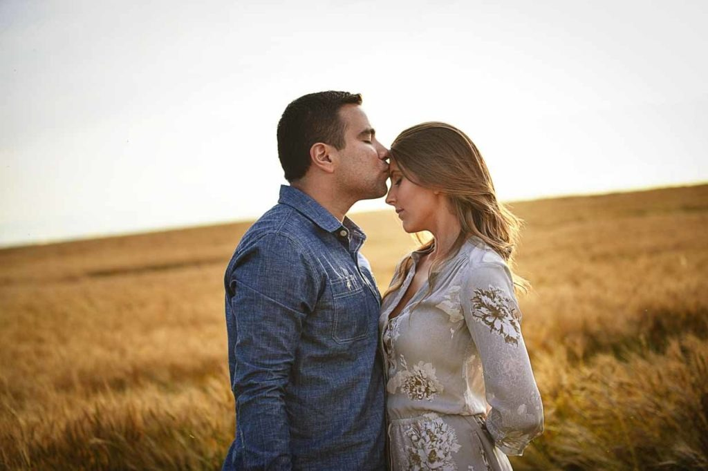 Forehead Kisses | Calgary Engagement Photographer | SLIVER Photography