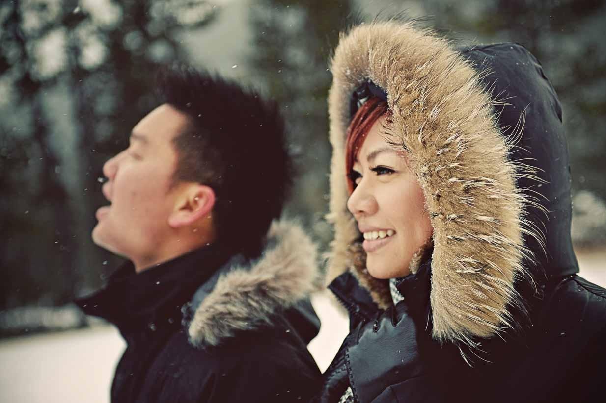 Asian Engagement | Calgary Engagement Photographer | SLIVER Photography