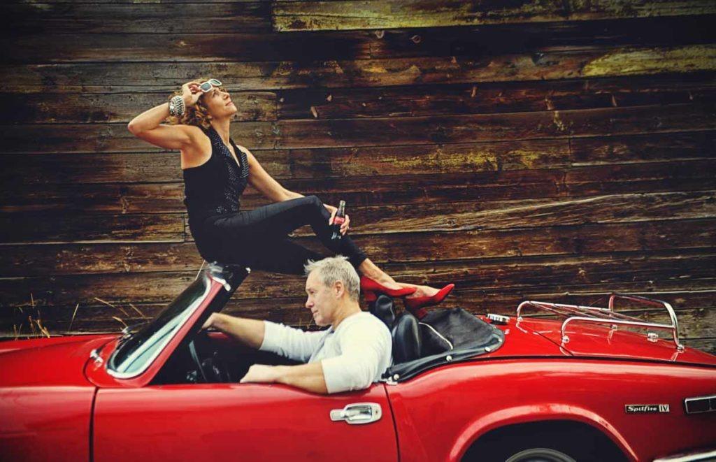 Vintage Car Couple | Calgary Engagement Photographer | SLIVER Photography