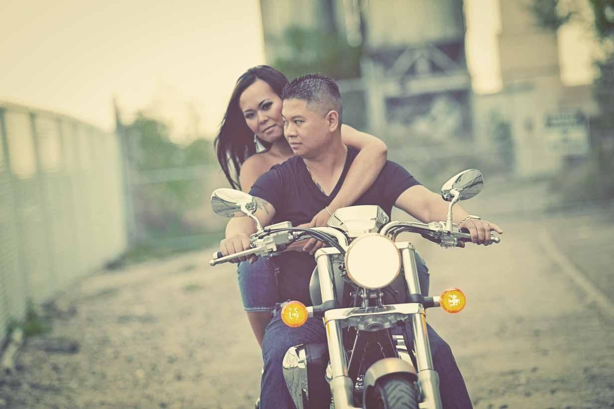 Motorobike Engagement | Calgary Engagement Photographer | SLIVER Photography
