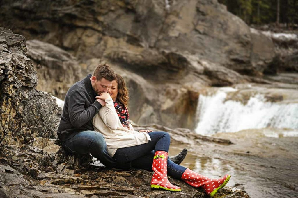 Elbow Falls Engagement | Calgary Engagement Photographer | SLIVER Photography
