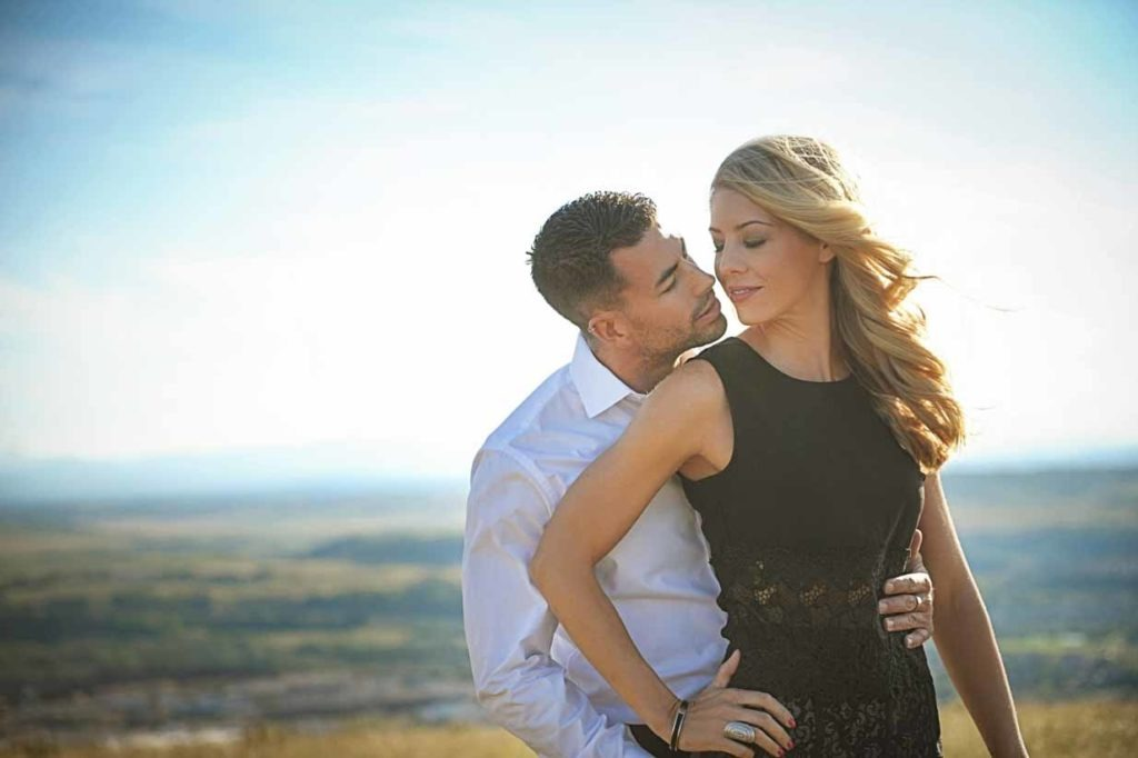 Couple in the Wind | Calgary Engagement Photographer | SLIVER Photography
