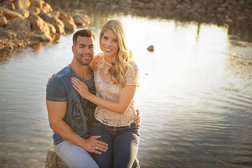 Couple at the Lake | Calgary Engagement Photographer | SLIVER Photography