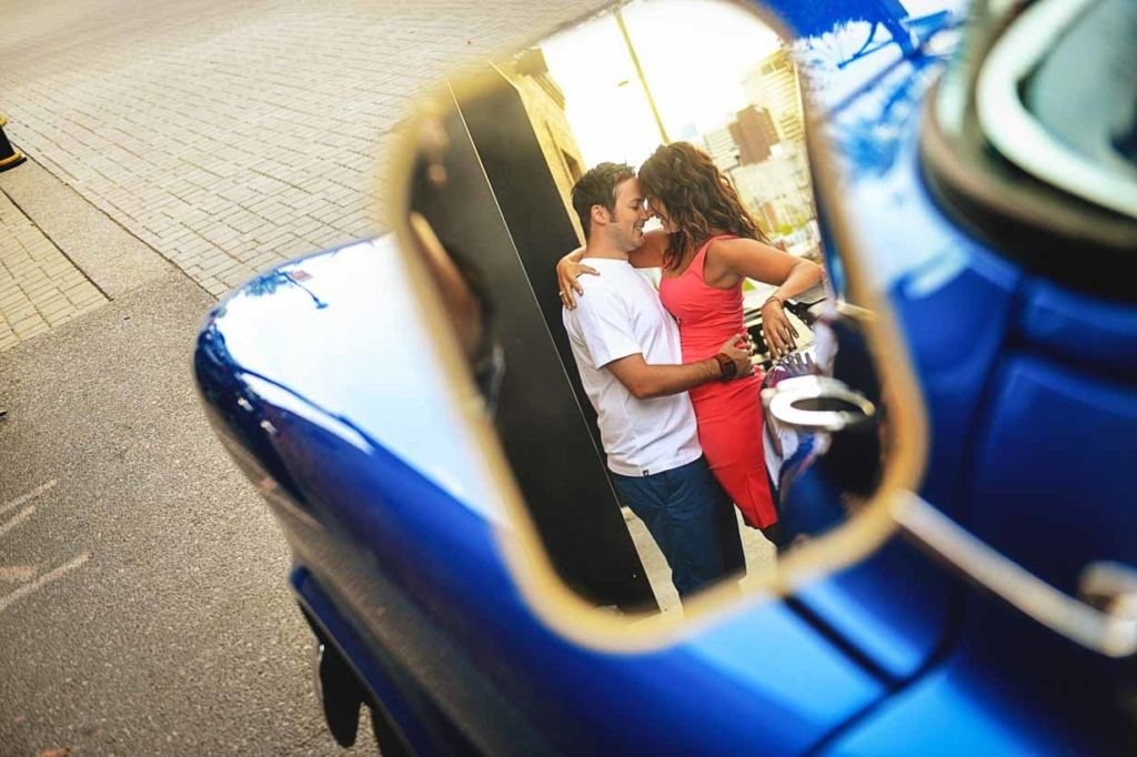 Objects in the Mirror appear closer than they are | Calgary Engagement Photographer | SLIVER Photography