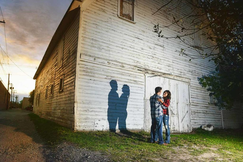 Sunset Barn Engagement | Calgary Engagement Photographer | SLIVER Photography