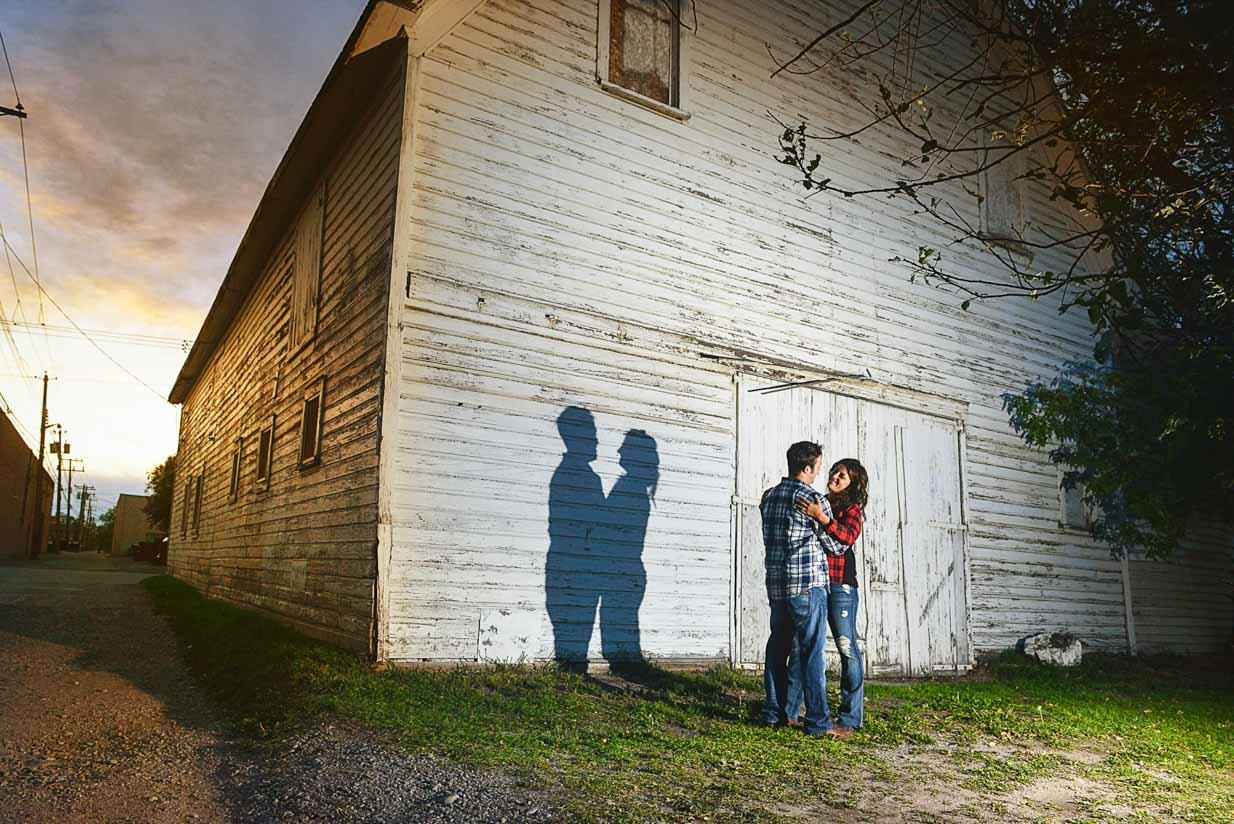 Sunset Barn Engagement | Calgary Engagement Photographer | SLIVER Photography