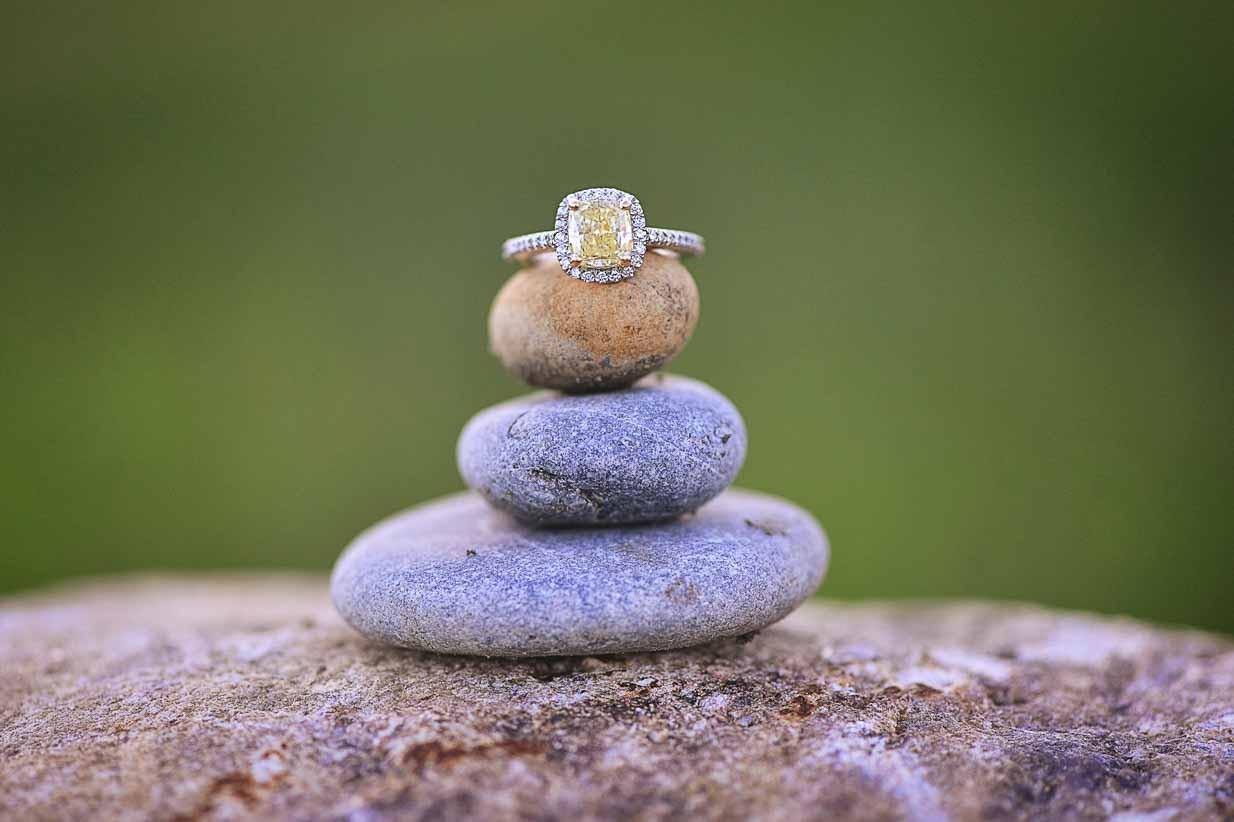 Champagne Diamond Engagement Ring | Calgary Engagement Photographer | SLIVER Photography