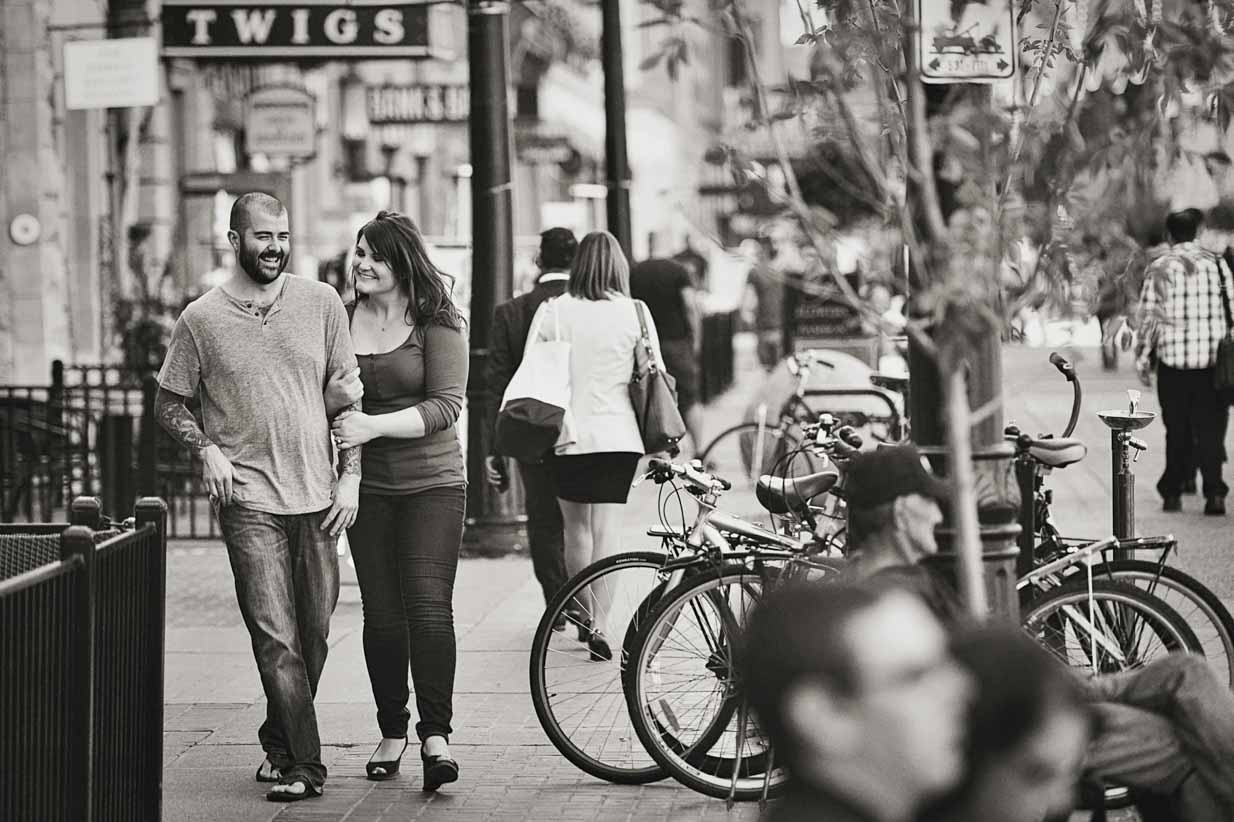 Stephen Avenue Walk | Calgary Engagement Photographer | SLIVER Photography