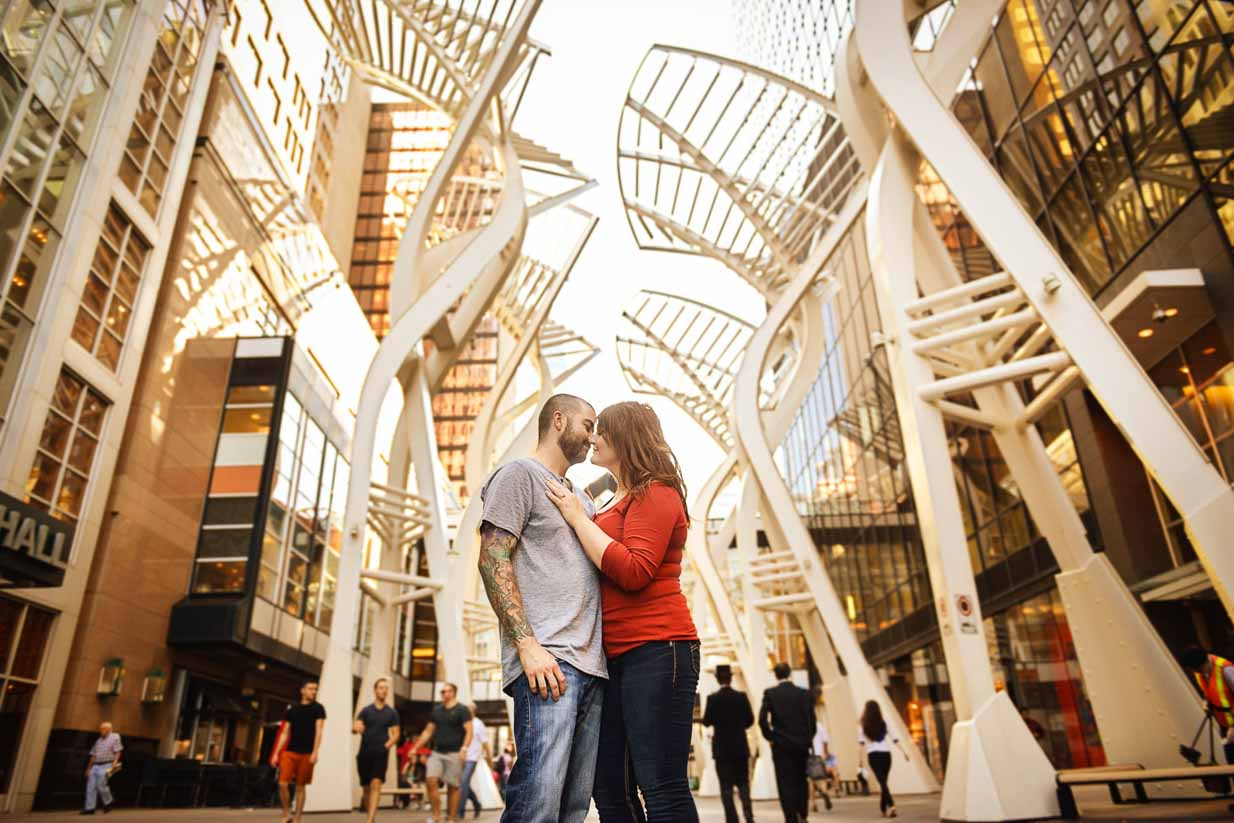 Bankers Hall | Calgary Engagement Photographer | SLIVER Photography