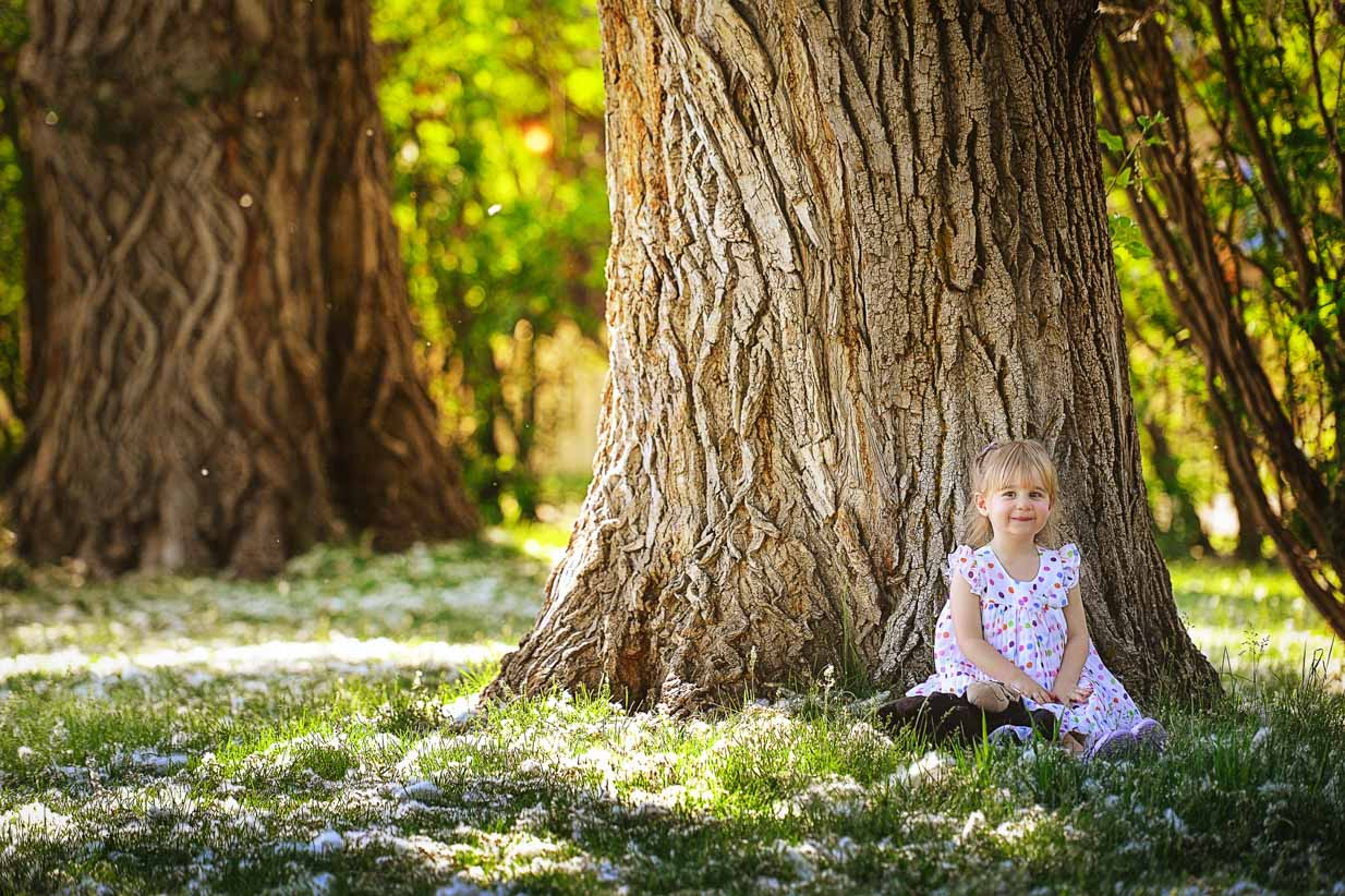 Girl with Tree | Calgary Family Photographer | SLIVER Photography