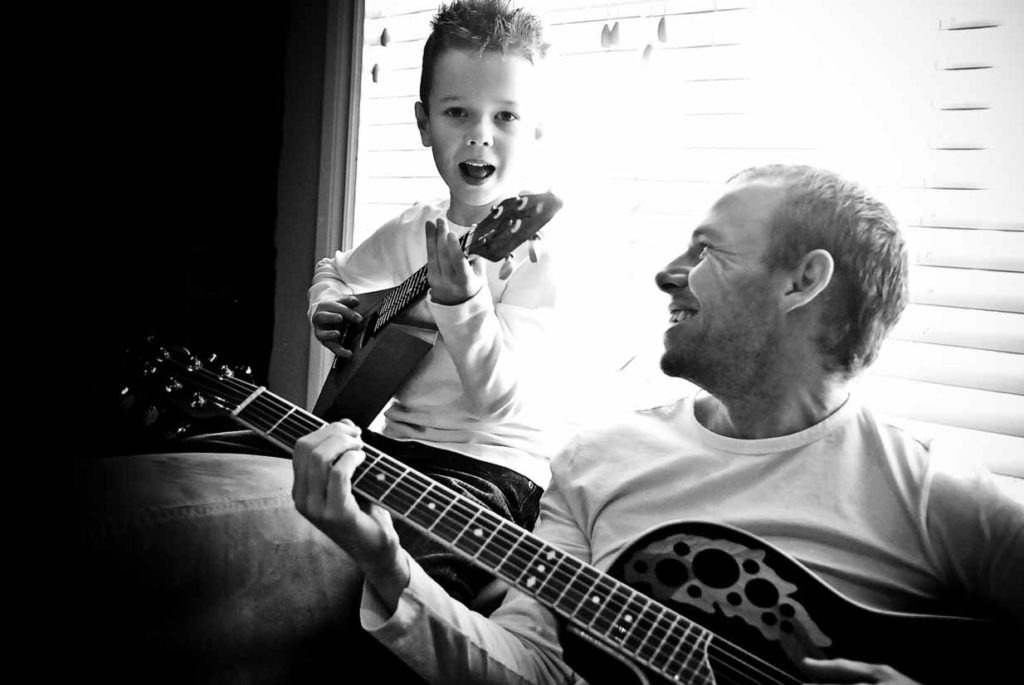 Guitar Practice | Calgary Family Photographer | SLIVER Photography
