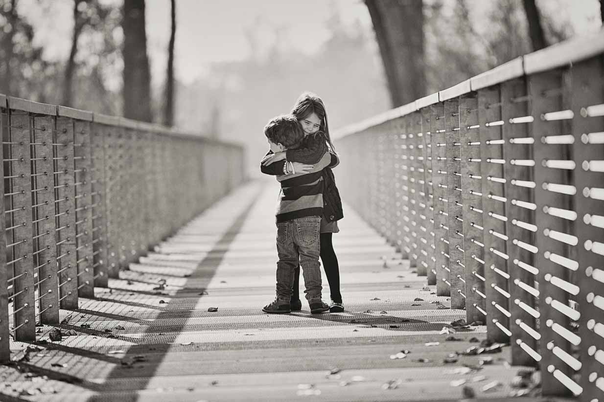 Black and white brother and sister | Calgary Family Photographer | SLIVER Photography