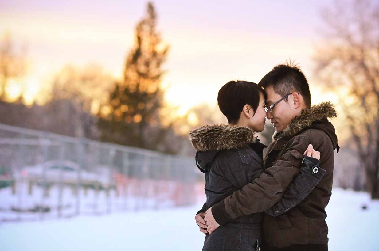 Winter Sunset | Calgary Family Photographer | SLIVER Photography