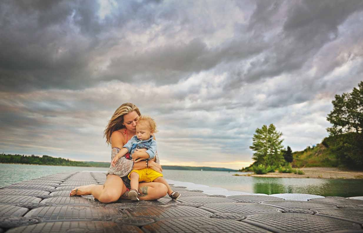 Lake Life | Calgary Family Photographer | SLIVER Photography
