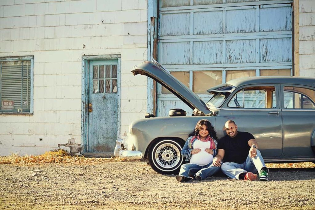 Vintage Car Maternity | Calgary Maternity Photographer | SLIVER Photography