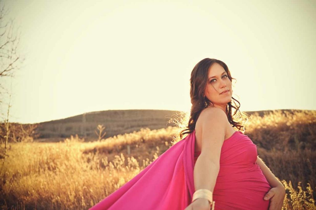 Pink Fabric Maternity | Calgary Maternity Photographer | SLIVER Photography
