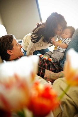 Forehead kisses   Calgary Maternity Photographer   SLIVER Photography