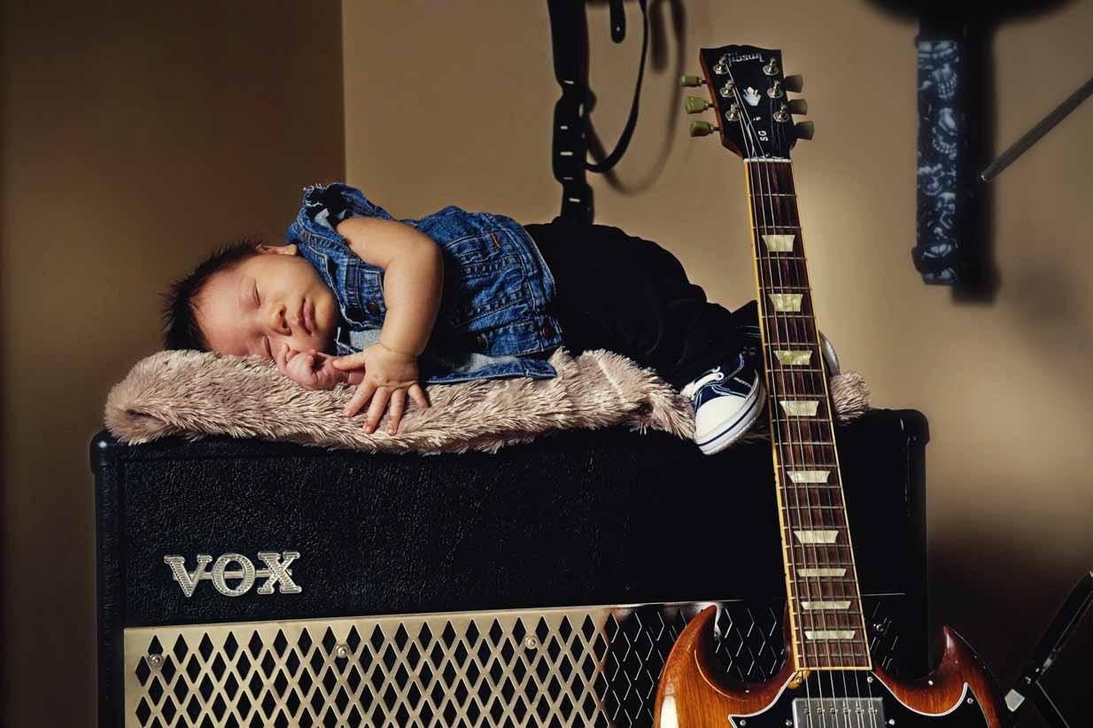 Newborn rockstar | Calgary Maternity Photographer | SLIVER Photography