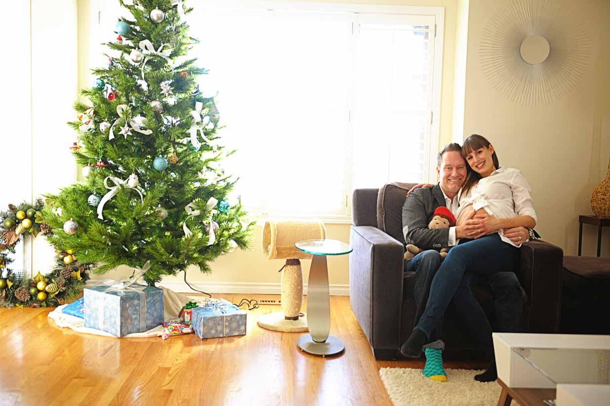 Christmas expecting | Calgary Maternity Photographer | SLIVER Photography
