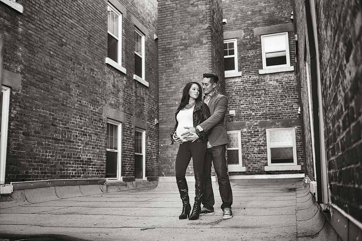 Vogue Pregnancy | Calgary Maternity Photographer | SLIVER Photography