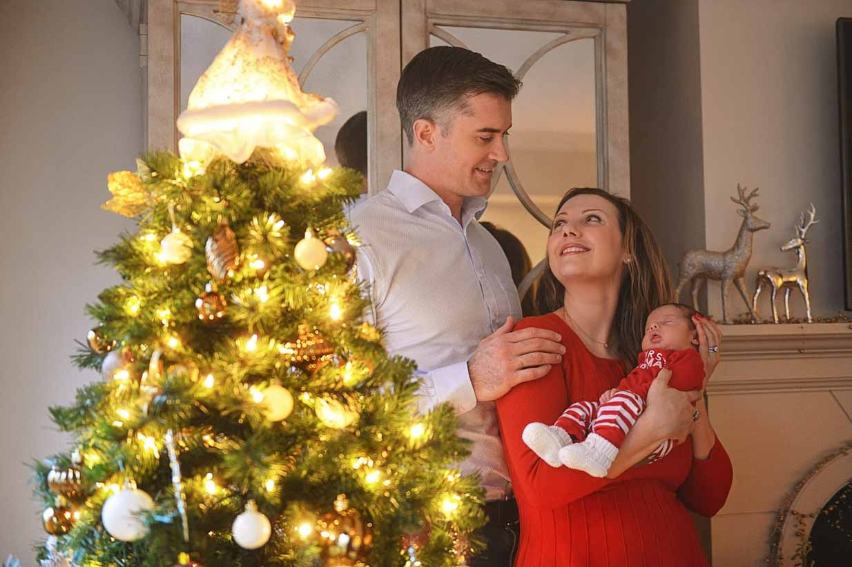 Christmas newborn present | Calgary Maternity Photographer | SLIVER Photography