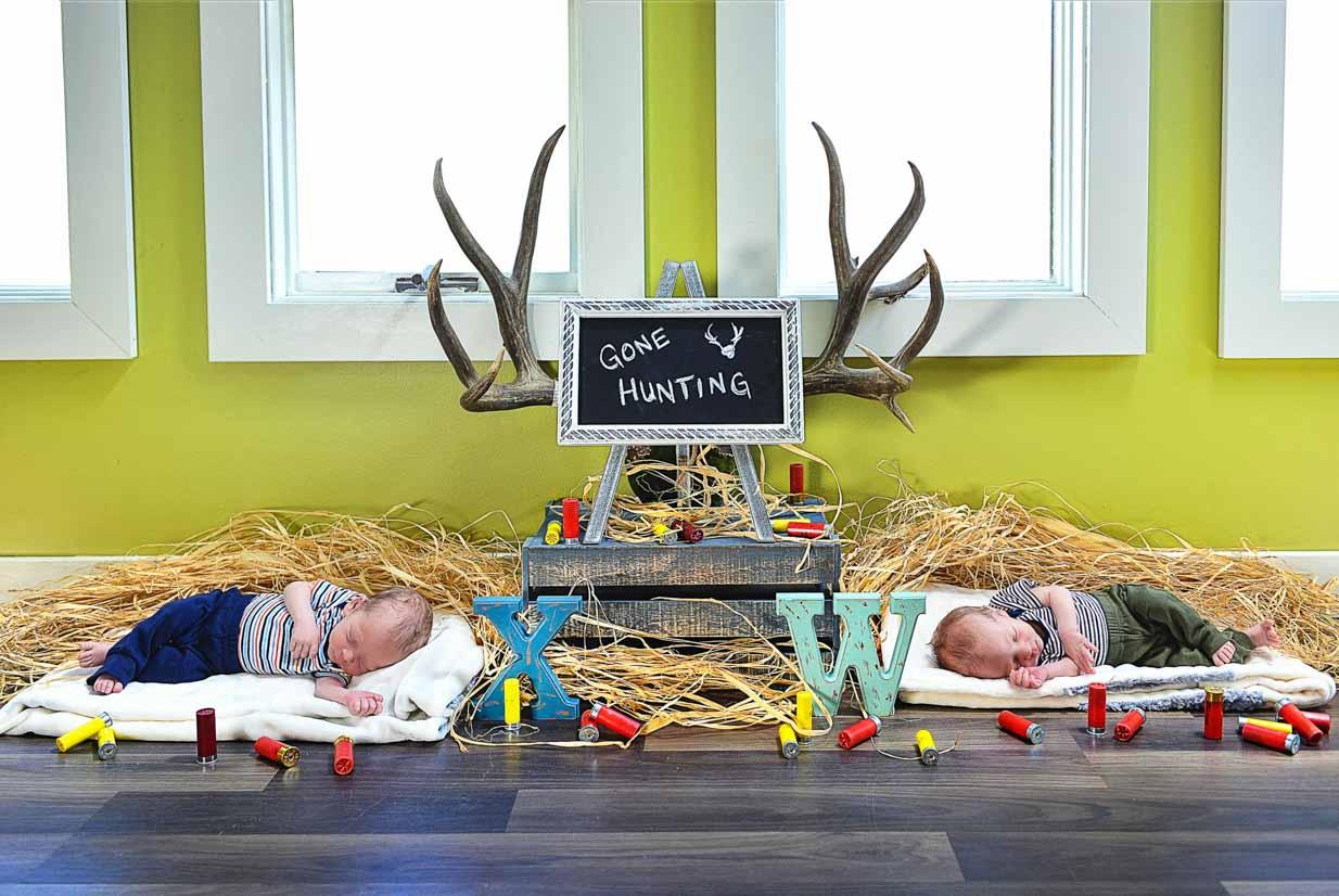 Newborn Twins | Calgary Newborn Photographer | SLIVER Photography