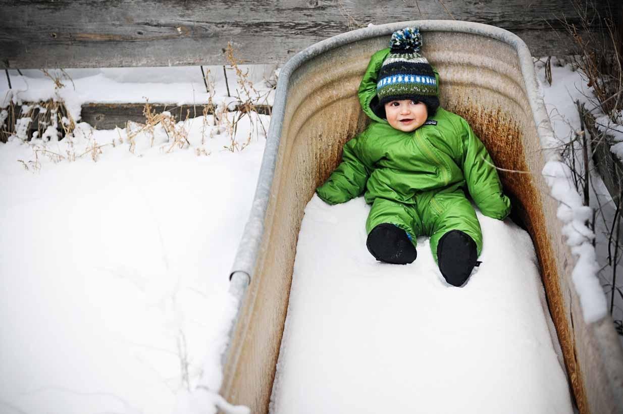 Newborn skier | Calgary Newborn Photographer | SLIVER Photography