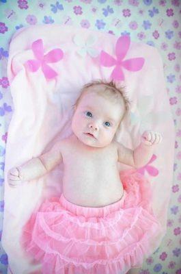 Newborn girl in tutu   Calgary Newborn Photographer   SLIVER Photography