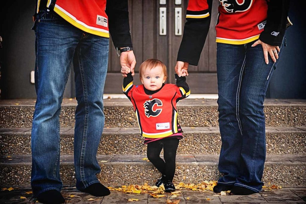 Calgary flames girl | Calgary Newborn Photographer | SLIVER Photography