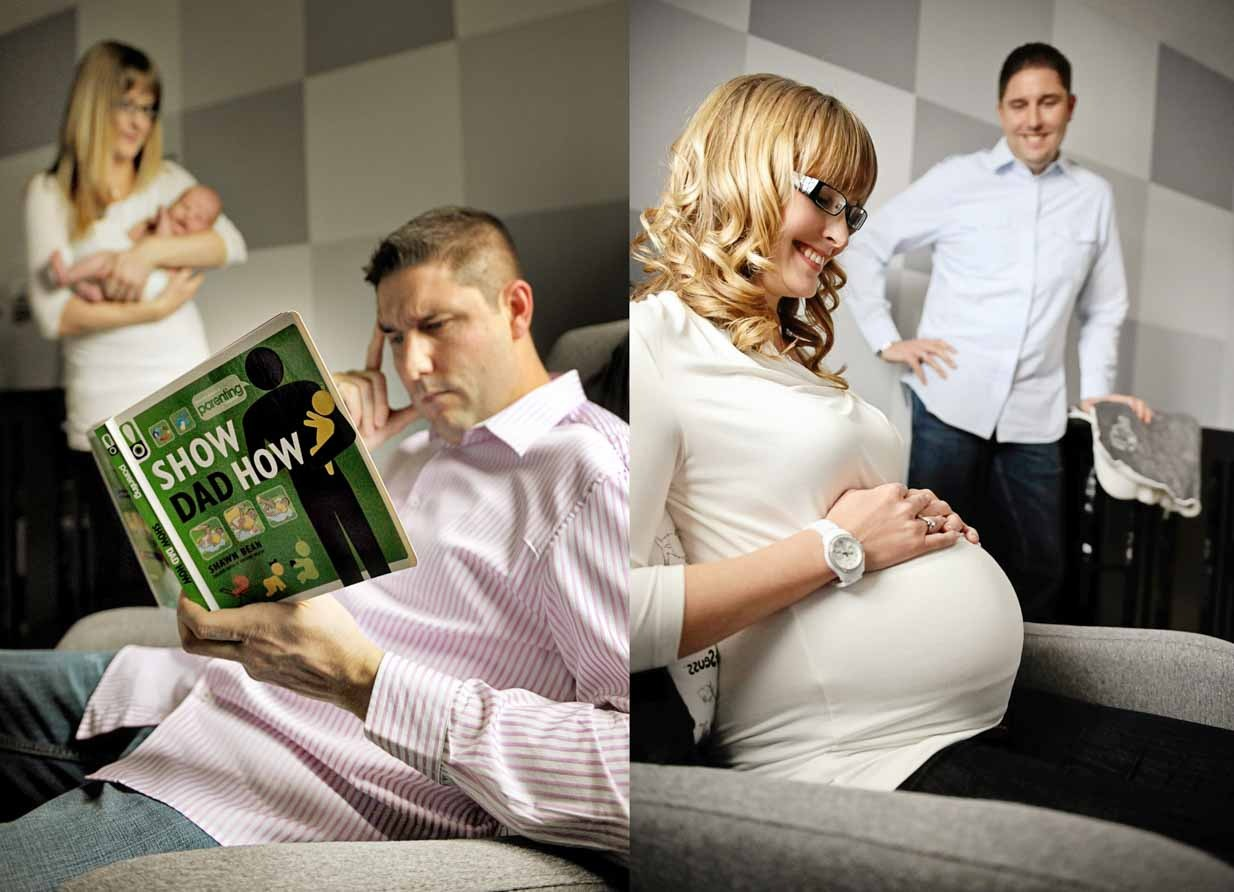 Belly to baby humour | Calgary Newborn Photographer | SLIVER Photography