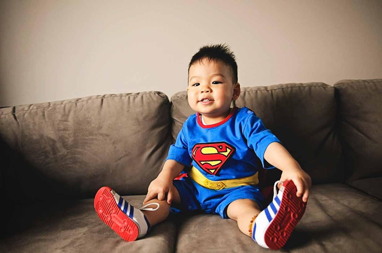Superman baby | Calgary Newborn Photographer | SLIVER Photography
