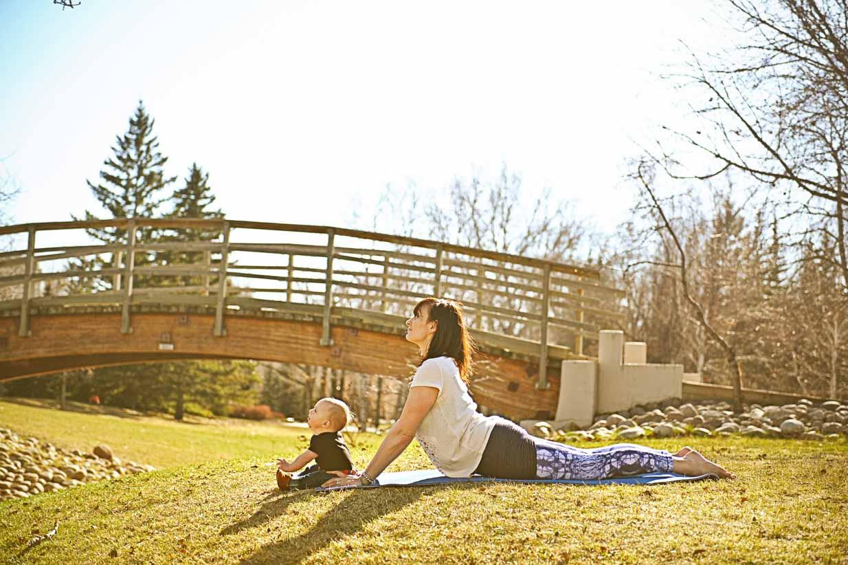 Baby Yoga | Calgary Newborn Photographer | SLIVER Photography