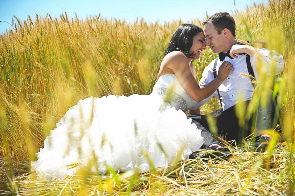 Wheat Field Kisses | Destination Wedding Photographer | SLIVER Photography