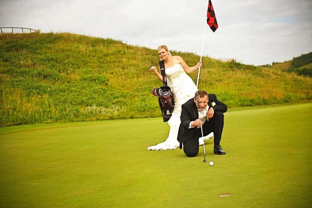 Golfing Groom | Destination Wedding Photographer | SLIVER Photography