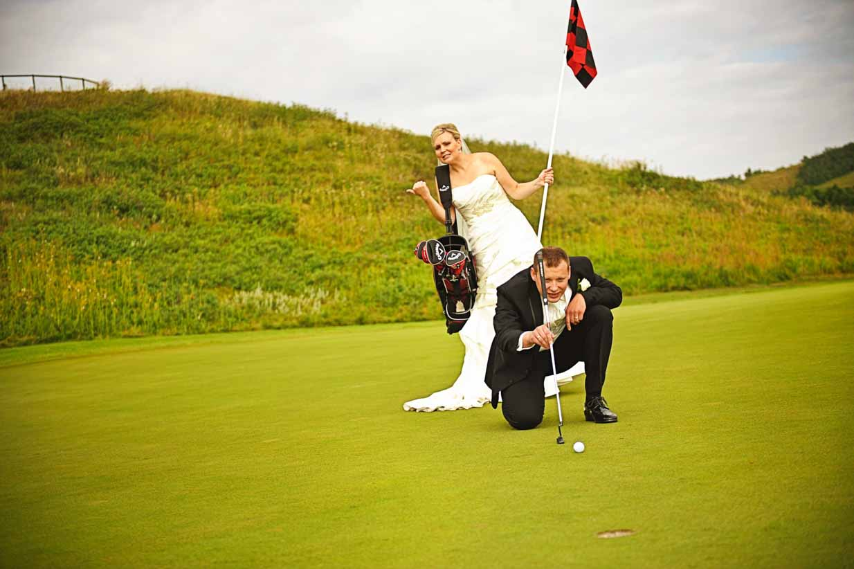 Golfing Groom | Destination Wedding Photographer | SLIVER Photography