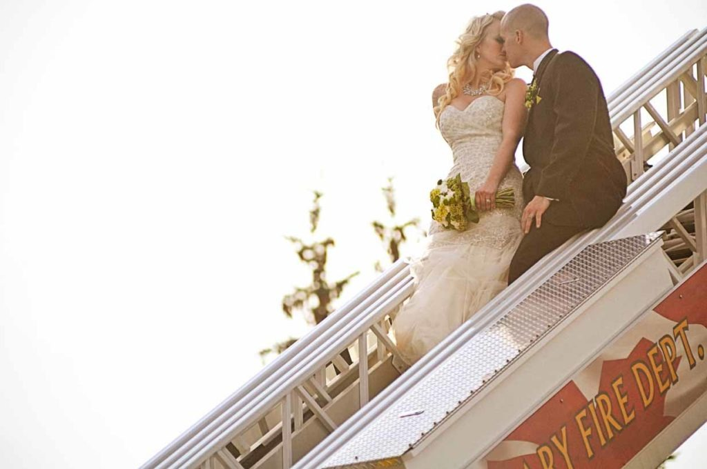 Firefighter Ladder   Destination Wedding Photographer   SLIVER Photography