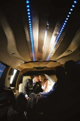 Limo Kiss | Destination Wedding Photographer | SLIVER Photography
