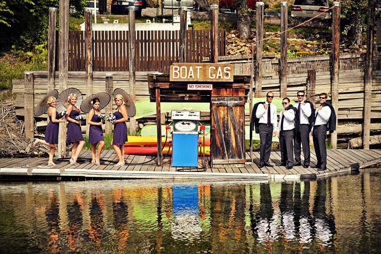Gas Station Bridal Party | Destination Wedding Photographer | SLIVER Photography