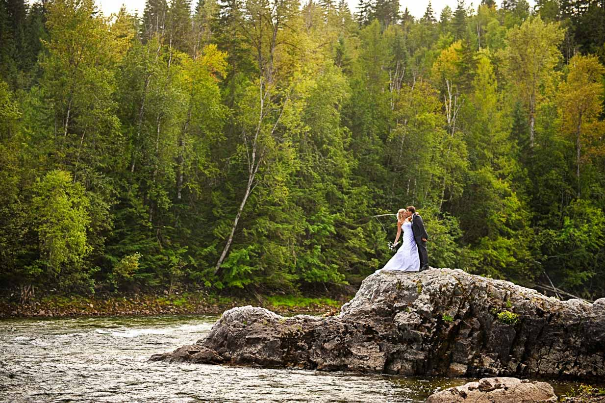 Bride and Groom at the Rivers Edge | Destination Wedding Photographer | SLIVER Photography