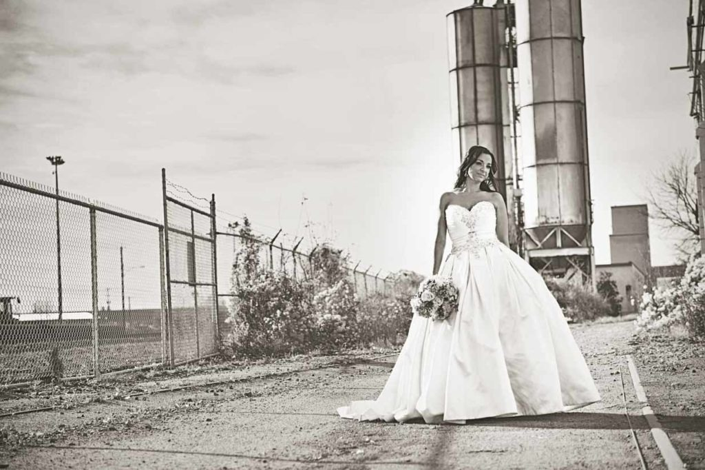Bride in industrial Area | Destination Wedding Photographer | SLIVER Photography
