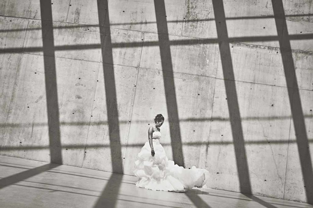 Bride with Shadows | Destination Wedding Photographer | SLIVER Photography