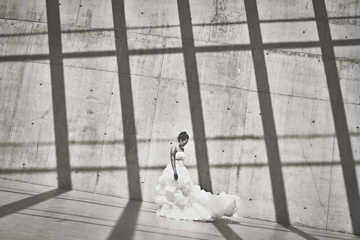 Bride with Shadows | Destination Wedding Photographer | SLIVER Photography