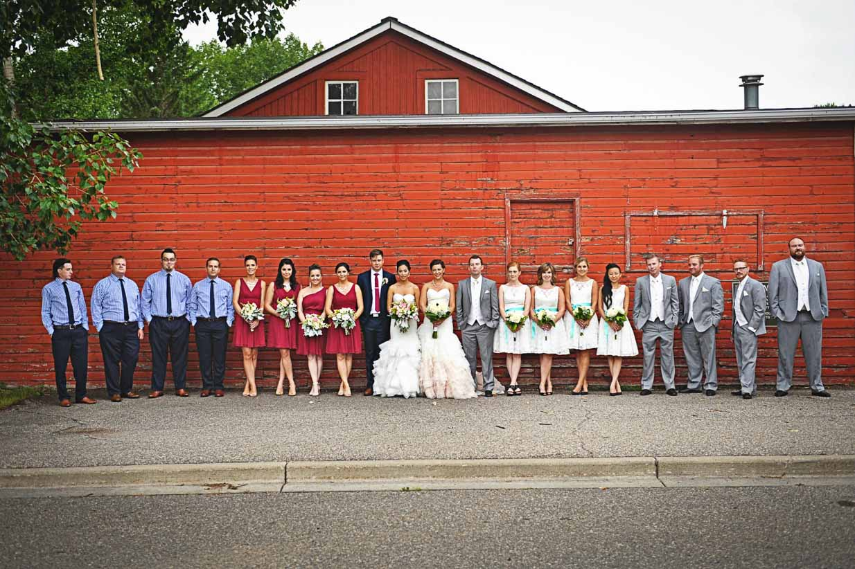 Two Bridal Parties | Destination Wedding Photographer | SLIVER Photography