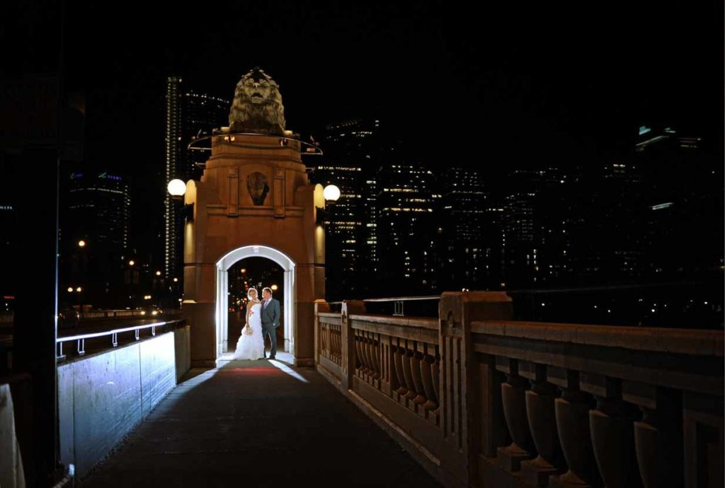 Centre Street Bridge at night | Destination Wedding Photographer | SLIVER Photography