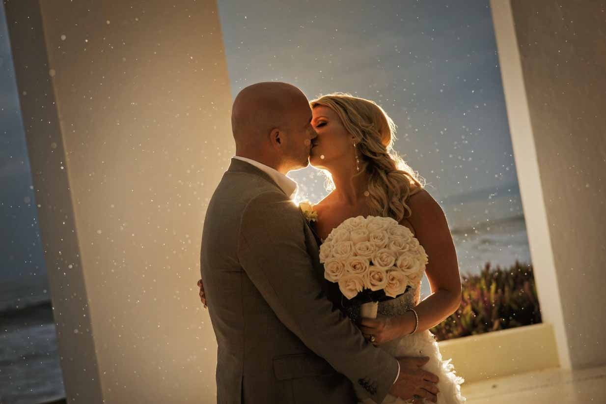 Mexico Rainstorm Kiss | Destination Wedding Photographer | SLIVER Photography