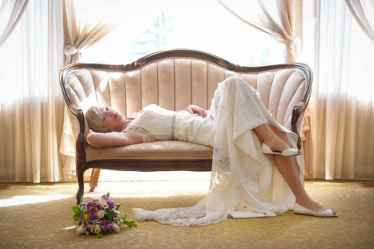 Bride on Lounger | Destination Wedding Photographer | SLIVER Photography