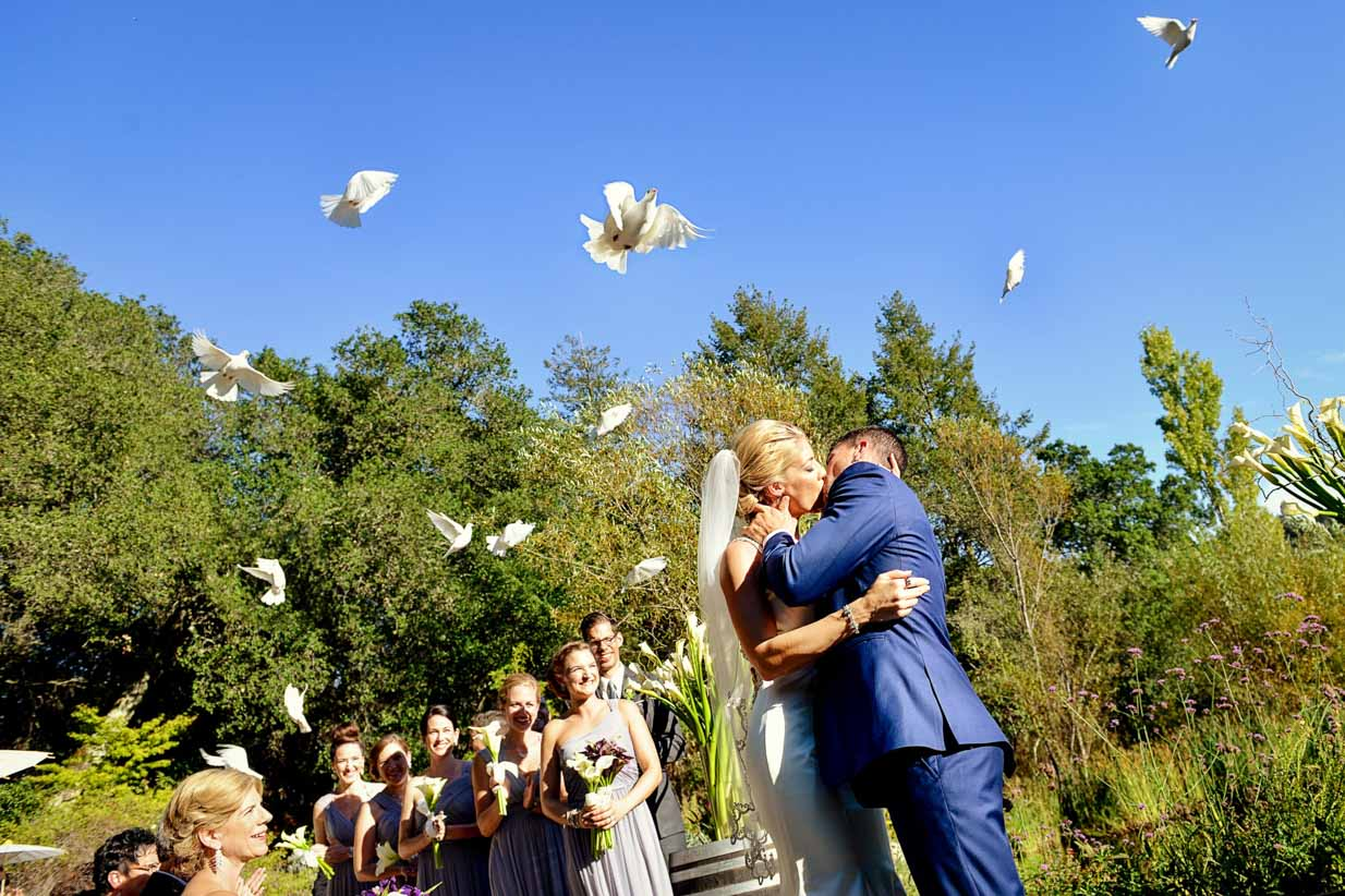 Doves Fly in California | Destination Wedding Photographer | SLIVER Photography