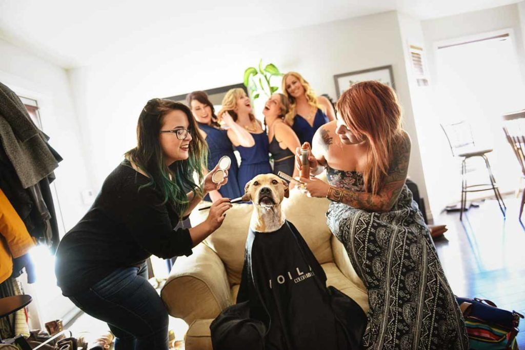 Dog Spa Bridesmaid | Destination Wedding Photographer | SLIVER Photography